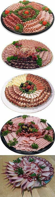 Ideas Meat Platter Presentation Antipasto For 2019 Meat And Cheese Tray, Meat Trays, Meat Platter, Food Trays, Cheese Platters, Cheese Art, Party Food Platters, Party Trays, Party Buffet