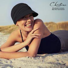 Casquette Chimio - Casquette Soft Line Sun Onyx- Christine Headwear - Elite Hair International Turbans, Baggy, Anti Uv, Line, Cap, Boutique, Fashion, Hair Growth, Baseball Hat