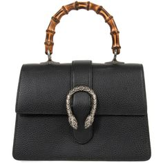 Dionysus Black Leather Top Handle Bag (29.288.485 IDR) ❤ liked on Polyvore featuring bags, handbags, black, new collections, real leather purses, leather purses, handbag purse, gucci and leather man bags