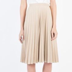 Modern Citizen | Modern Citizen  |  Katy Pleated Midi Skirt (Camel) - 1 $72