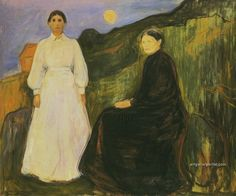 Edvard Munch - Mother and Daughter 1897