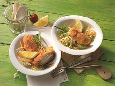 Wurzelgemüsesalat mit gebackenen Hähnchenflügeln #Haehnchen #Gefluegel #Rezept #Rezepte #Genuss #Kochen #Salat
