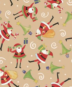 The Night Before Christmas gift wrap! Such a fun pattern for the holiday season. #Santa #Christmas #Giftwrap
