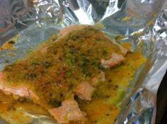 Tranci di trota salmonata alle verdure al cartoccio
