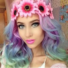 """Instagram photo by madforhalos - In loooove with the Blossom Halo on our gorgeous mermaid @amythemermaidx!  They really need to give us a mermaid emoji already!!! Don't forget about our Spring Sale! Use code """"M4SPRING"""" for 25% off ALL orders!"""
