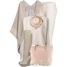 """""""Poncho & Tall Boots"""" by brendariley-1 on Polyvore"""