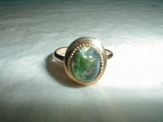 vintage ring sarah coventry jelly opal size 9 ring