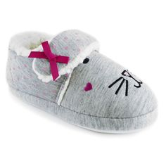Slumberzzz Girl/'s Rabbit Knitted Sherpa Fleece Lined Bootie Slippers