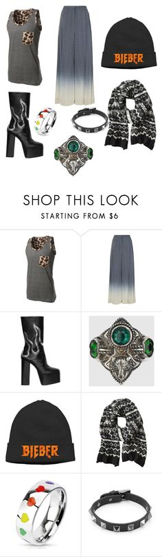 """""""Untitled #8"""" by madi-gil ❤ liked on Polyvore featuring LE3NO, STELLA McCARTNEY, Dsquared2, Gucci, Justin Bieber, Banana Republic, West Coast Jewelry, Valentino, men's fashion and menswear"""