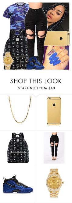 """Untitled #1574"" by msixo ❤ liked on Polyvore featuring Goldgenie, MCM, NIKE, Rolex and Accessorize"