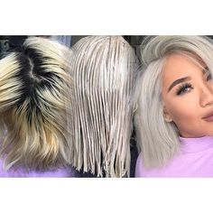 **Asian Blonde Root Touch up ** Who'd like to see this step by step ? Web Instagram User » Collecto