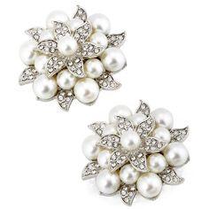 Amazon.com: ElegantPark AE02 Fashion Rhinestones ivory Pearls Wedding Party gold Shoe Clips 2 PCS: Shoes