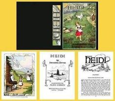 Heidi a Modified Children's Book | Mary's Dollhouse Miniatures
