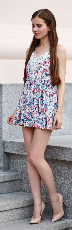Help I Have Nothing To Wear Cute Floral Little Dress #highheelbootslingerie