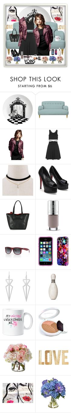 """Untitled #755"" by klementina-r ❤ liked on Polyvore featuring Eleanor Stuart, Marc Jacobs, The Body Shop, Ray-Ban, Elizabeth Arden, Diane James, PBteen and Oliver Gal Artist Co."