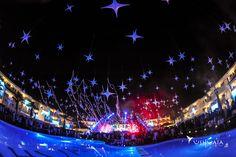 Stars at Ushuaïa sky in Ibiza. // Estrellas en el cielo del Ushuaïa Ibiza.
