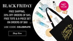 Black Friday. Free shipping. 20% off $45 orders. Free tote & 8 piece set with $69 orders. Code CELEBRATE. Shop now. youravon.com/taylorenterprises