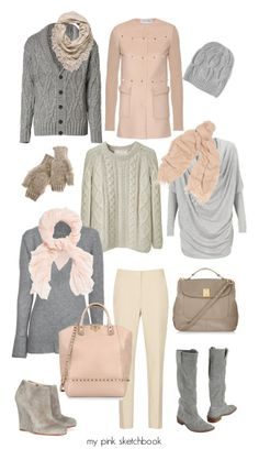 Ruffled Barely-there pink, cables & creams... and did you see the Boots!? Love. @MyPinkSketchbook .blogspot.com