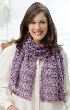 Beatrice Wrap Crochet Pattern  Here's the perfect gift idea! It can be crocheted and given any season of the year to be worn as a scarf or a shawl. Redheart Free Pattern
