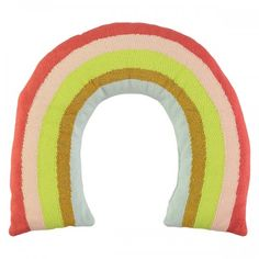 Shop the Meri Meri Modern Knitted Organic Cotton Rainbow Cushion and other Kids Pillows at Kathy Kuo Home Knitted Cushions, Kids Dress Up, Little Unicorn, Kids Pillows, Throw Pillows, Christmas Toys, A Boutique, Nursery Decor, Room Decor