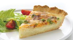83% less sat fat • 62% less fat • 25% more calcium than the original recipe. Say oui to this slimmer quiche - every slice will be a pièce de résistance!