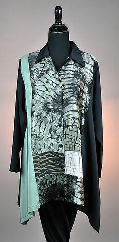 Pieced Shibori Orchid Blouse: Michael Kane: Silk Blouse | Artful Home SOLD