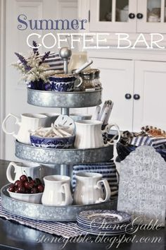 Days of Chalk and Chocolate: 10 DIY Coffee Stations