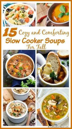 Warm up and relax this fall with one of these 15 cozy and comforting slow cooker soups! Your slow cooker makes them an easy and delicious fall meal choice!