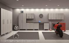 Garage ideas I need followers please. Will follow back! Cupboards, Garage Cabinets, Custom Cabinets, Home Design Decor, Interior Design, House Design, Home Decor, Cool Garages, Garage Interior
