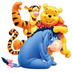 Winnie the Pooh Eeyore and Tiger Transparent PNG Clip Art Image