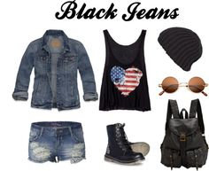 """black jeansland"" by hipsterfever on Polyvore"