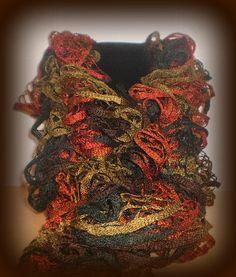 Ruffled Fish Net Scarf