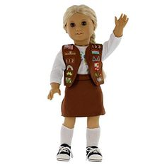 Girl Scout Brownie Inspired Doll Outf…