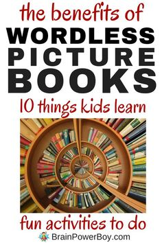 Wordless picture books are wonderful. That goes without saying. Find out why they are so great and 10 things kids can learn by using them. BONUS: Wordless Picture Book Activities! Click image to read more.