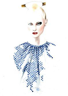 Alexandra Moura F/W 2013 by Antonio Soares Illustration.Files: Portugal Fashion F/W 2013 by António Soares (Part 3)
