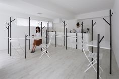 id present small forest-like interior for cafe ki in tokyo