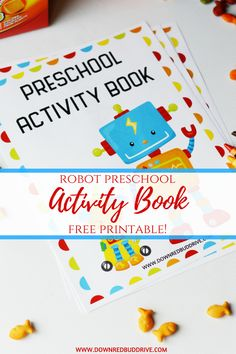 Printable Robot Preschool Activity Book - Down Redbud Drive Letter R Activities, Preschool Activity Books, Free Preschool, Preschool Printables, Infant Activities, Preschool Activities, Robot Theme, Do A Dot, Learning Colors