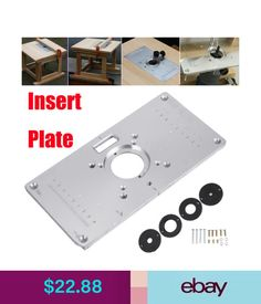 Ujk technology 6mm aluminium router table insert plate router power tools 700c aluminum router table insert plate 4 rings screws for woodworking benches keyboard keysfo Images