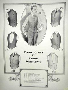 1919 Antique Folio Men Fashion Catalog Clothing Uniform | eBay