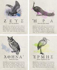 Apollo, Artemis, Athena, Hermes (the god of swiftness has ...