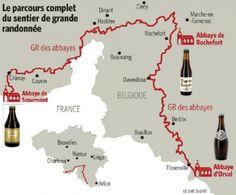Chimay, Rochefort et Orval: les trois trappistes wallonnes réunies par un sentier GR - www.sudinfo.be