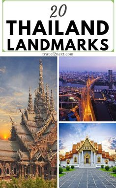 20 Thailand landmarks for your bucket list. The 372 km Chao Phraya River flows from the province of Nakhon Sawan through Bangkok to the Gulf of Thailand. Erawan National Park, Doi Inthanon National Park, Thailand Travel, Asia Travel, Travel Usa, Temple Ruins, Prague Travel, Over The River, Packing Tips For Travel