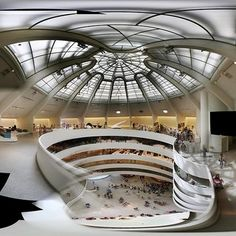 Guggenheim Museum-Designed by Frank Loyd Wright. I wish it wasn't in such disrepair when I was there, but alas - FLW was a wonder of a man and remains my architectural hero to this day.
