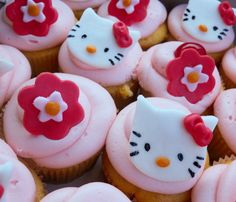 Lin's Kitchen: Hello Kitty Cupcakes