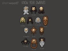 Know your Dwarves #ShirtWoot