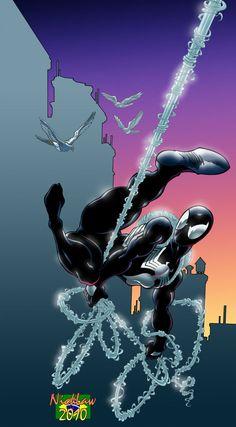 #Spiderman #Black #Suit. (Black Spider Suit) By: Nick Law. (THE * 5 * STÅR * ÅWARD * OF: * AW YEAH, IT'S MAJOR ÅWESOMENESS!!!™)[THANK Ü 4 PINNING!!!<·><]<©>ÅÅÅ+(OB4E)