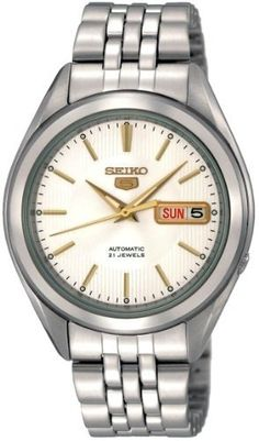 Seiko Mens SNKL17 Stainless Steel Analog with Silver Dial Watch >>> Check out the image by visiting the link.