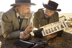 Django Unchained, with Christoph Waltz and Jamie Foxx. Love their spaghetti-western style. Even Jamie's electric blue dandy costume was outstanding.