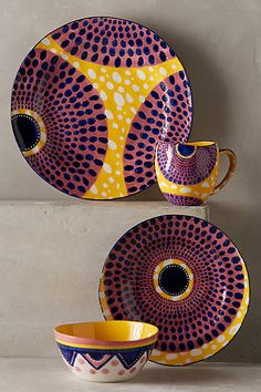 Anthropologie Ankara-inspired Housewares