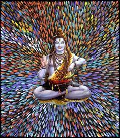 Lord Shiva as adiyogi in creative art painting Shiva Parvati Images, Shiva Hindu, Shiva Art, Shiva Shakti, Lord Shiva Hd Wallpaper, Lord Vishnu Wallpapers, Angry Lord Shiva, Rudra Shiva, Saraswati Goddess
